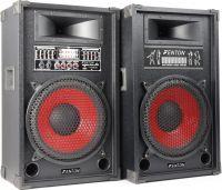 Aktivt højttalersæt SPA-12 / 2x600W / Karaoke funktion / USB/MP3-afspiller (til ungdomsværelset)