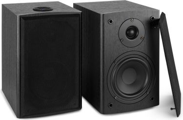 "SHF505B Powered Bluetooth Bookshelf Speakers 5.25"" MP3"