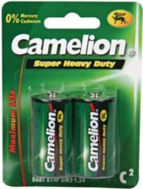 Camelion Camelion Zink Carbon C/R14 bat. 1,5V/2800mAh (2 stk.)