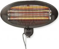 Nedis Patio Heater | Wall mounting | 650 / 1300 / 2000 W | IP24, HTPA11EBK