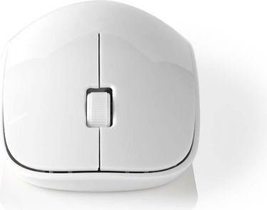 Nedis Wireless Mouse | Desktop | 3-Buttons | 1000 DPI | White, MSWS100WT