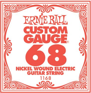 Ernie Ball EB-1168, Single .068 Nickel Wound string for Eletric gui