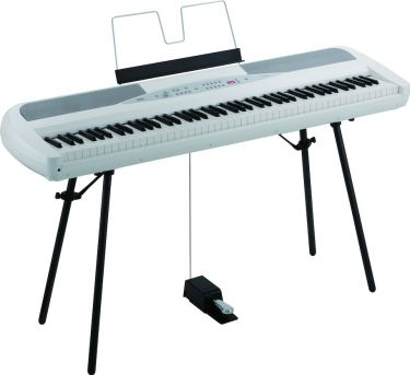Korg SP280WH White Digital Piano, Beautiful sounding Stage Piano, w