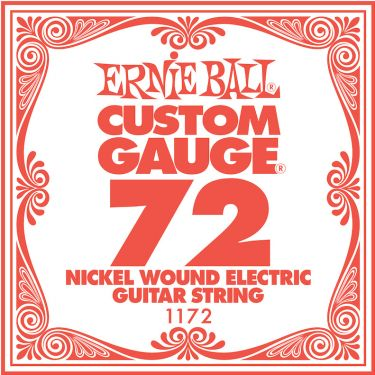 Ernie Ball EB-1172, Single .072 Nickel Wound string for Eletric gui