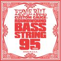 Musikinstrumenter, Ernie Ball EB-1695, Single .095 Nickel Wound string for Electric Bass