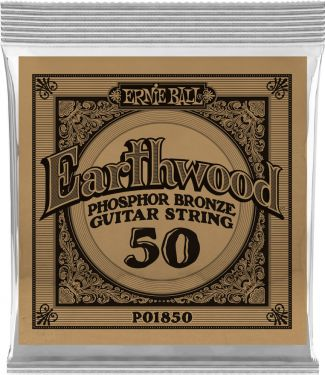 Ernie Ball EB-1850, Single .050 Wound Earthwood Phosphor Bronze str