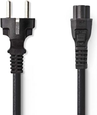 Nedis Power Cable | Schuko Male - IEC-320-C5 | 2.0 m | Black, CEGP10130BK20