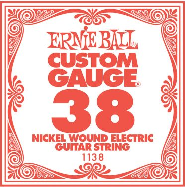 Ernie Ball EB-1138, Single .038 Nickel Wound string for Eletric gui