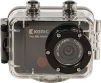 König Full Hd Action Camera 1080p Vandtæt hus Sort, CSAC300