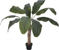Europalms Banana tree, artificial plant, 100cm
