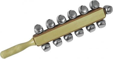 Dimavery Sleigh bells on stick, 13 bells