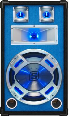 "Disco PA speaker 12"" 600W LED"