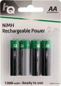 Transportabel Batteripakke, HQ Genopladeligt Nimh Batteri Aa 1.2 V 1300 mAh 4-Bobler, HQHR6-1300/4B