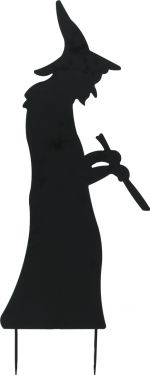 Europalms Silhouette Metal Witch with Spoon, 110cm