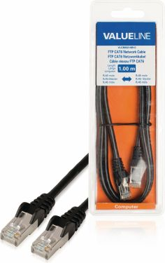 Valueline CAT6 F/UTP Network Cable RJ45 (8P8C) Male - RJ45 (8P8C) Male 1.00 m Black, VLCB85210B10