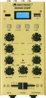 Small 2 Channels, Omnitronic GNOME-202P Mini Mixer gold