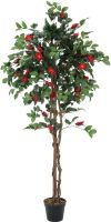 Europalms Camelia red cemented, artificial plant, 180cm