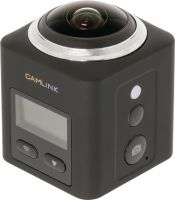 Camlink Full Hd Action Camera 360 ° 2K Wi-Fi / Microphone Sort, CL-AC360
