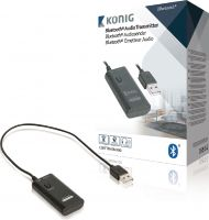 König Audio Transmitter Bluetooth 3.5 mm Sort, CSBTTRNSM100