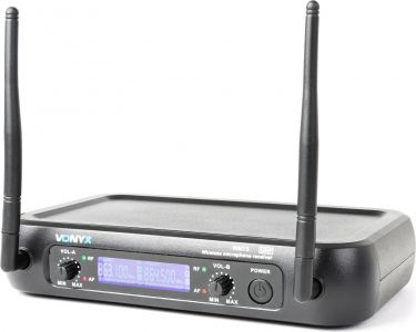 WM73C 2-Channel UHF Wireless Microphone System Combi with Handheld, Bodypack and Display