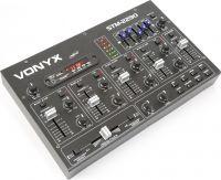 DJ Mixer STM2290 8-kanals med lydeffekter, Bluetooth, USB/SD/MP3-afpiller