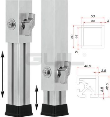 Guil PTA-440/80-140 Telescopic Foot