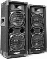 """Discohøjttaler 2-vejs med 2x 6"""" bas i populært disco-look / 600W"""