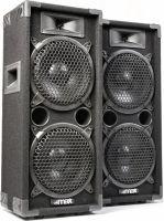 """Discohøjttaler 2-vejs med 2x 8"""" bas i populært disco-look / 800W"""
