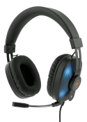 Deltaco GAMING Stereo Headset Running RGB LED, Sort