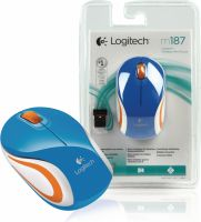 Logitech Wireless Mouse Travel 3-Button Blue, 910-002733