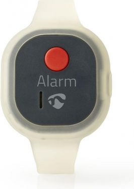 Nedis Personal Safety Alarm | Waterproof | Wrist Band Design | ≥ 85dB Alarm | Flashing LED, ALRMPW20