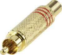 Valueline Connector RCA Male Metal Gold/Red, CC-011R