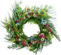 Udsmykning & Dekorationer, Europalms Wild Flower Wreath, artificial, 65cm
