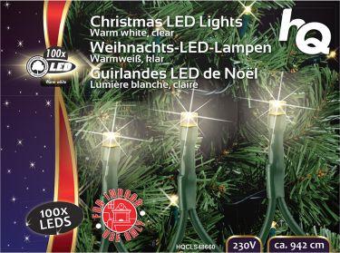 HQ Julbelysning 100 LED 2.1 W 9.42 m Varm Hvid Indendørs, HQCLS48660