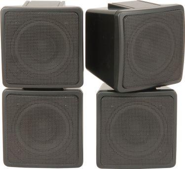 Stereo satellite speakers, 2-way, 100W max, Pair - Black