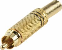 Valueline Connector RCA Male Metal Gold/Black, CC-011B