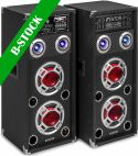 "Højttalersæt - aktive, KA-26 Active Speaker Set 2x 6.5"" USB/RGB LED 800W ""B-STOCK"""