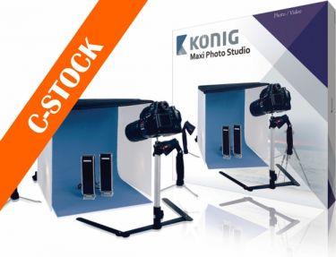 """König KN-STUDIO12N Foldbar mini Fotostudie 60 x 60 x 60 cm """"C-STOCK"""""""