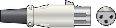 XLR socket, 3-pin