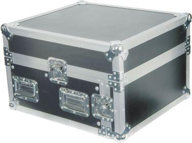 """Flightcase 19"""" med udskæring til mixer (10U + 4U højde)"""