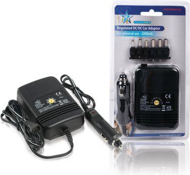 HQ Universal DC Power Adapter 1.5 VDC / 3 VDC / 4.5 VDC / 6 VDC / 7.5 VDC / 9 VDC / 12 VDC 2.0 A, P.