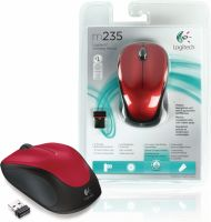 Logitech Wireless Mouse Desktop 3-Button Red, 910-002497