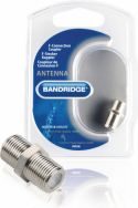 Adapter, Bandridge Coax Adapter XLR F Female - F Female Silver, BVP300
