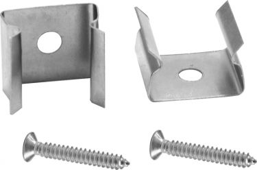 Eurolite Mounting for Tubings 10x10mm Set 2x with screws