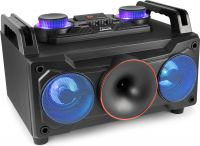 Party Station MDJ110, Komplet ALT I ET Musikafspiller 120W - MP3 / USB / Bluetooth (med batteri)