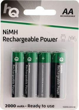 HQ Genopladeligt Nimh Batteri Aa 1.2 V 2000 mAh 4-Bobler, HQHR6-2000/4B