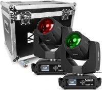 BeamZ professional Tiger 7R Hybrid Moving head kit 2 stk. i Flightcase