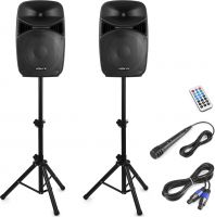 VPS122A Plug & Play 800W Speaker Set with Stands