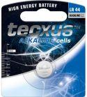 Batterier og tilbehør, Tecxus Tecxus LR44/AG13/V13 alkaline 1,5V / 145mAh (1 stk.)