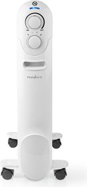 Nedis Mobile Oil Radiator | 1500 W | White, HTOI20EWT7